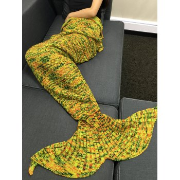 Soft Crochet Knitting Mermaid Tail Shape Blanket