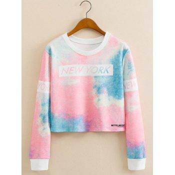 Tie-Dye Colorful Cropped Long Sleeve Sweatshirt