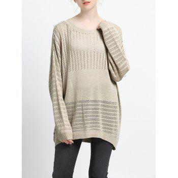 Loose Fitting Knitted Hollow Out Pullover