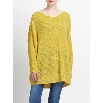 Loose Fitting Solid Color Knitted Pullover