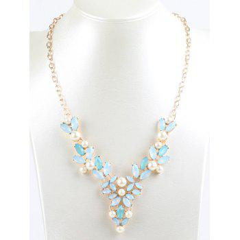 Faux Pearl Hollow Out Beads Necklace - COLORMIX