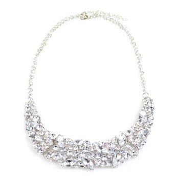 Faux Crystal Wedding Necklace