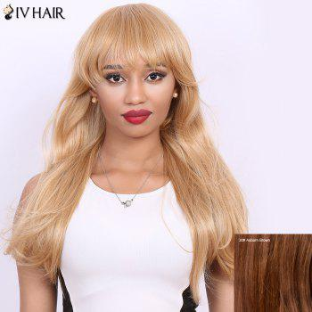Long Full Bang Straight Real Natural Hair Siv Wig