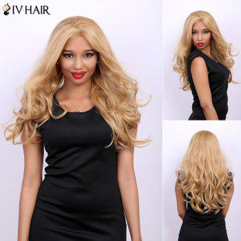 Wavy Long Fluffy Centre Parting Real Natural Hair Siv Wig