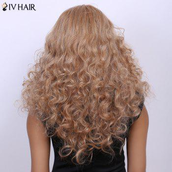 Curly Long Fluffy Centre Parting Real Natural Hair Siv Wig - GOLDEN BROWN/BLONDE