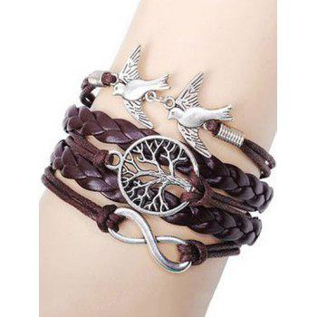 Swallows Tree of Life Braided Bracelet