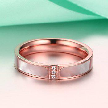 Faux Zircon Shell Embellished Ring - ROSE GOLD ONE-SIZE