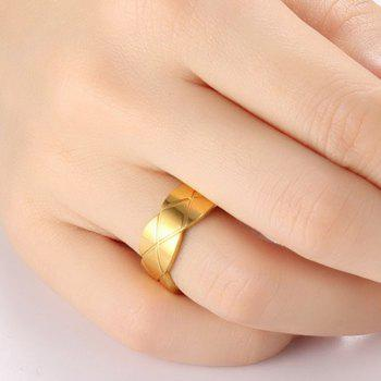 Rhombus Pattern Wave Edge Ring
