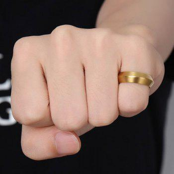 Matte Stainless Steel Plating Ring - GOLDEN ONE-SIZE