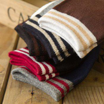 One Set Casual Stripe Pattern Lovers Socks - COLORMIX