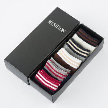 One Set Casual Stripe Pattern Lovers Socks