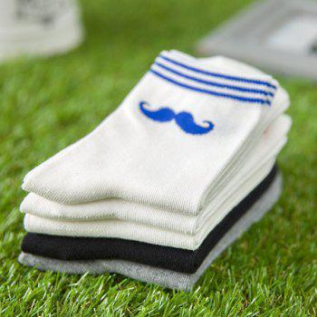 One Set Moustache Casual Motif Chaussettes - multicolorcolore