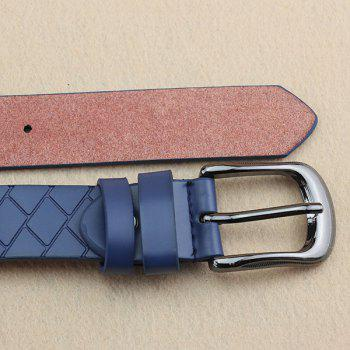 Lady Brief style Pin Buckle PU Brique Plaid Embossed Belt - Or Clair