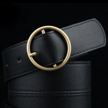 Lady Brief Rond Style Pin Buckle PU ceinture