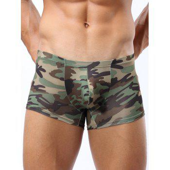 Camo Pattern U Convex Pouch Boxer Brief