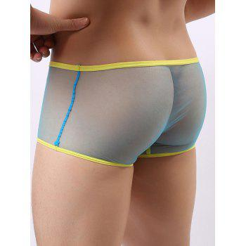 Mesh Design Perspective Boxer Brief - LIGHT BLUE M