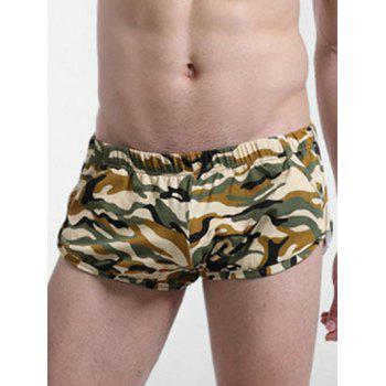 U Pouch Design Color Block Camouflage Boxer Brief