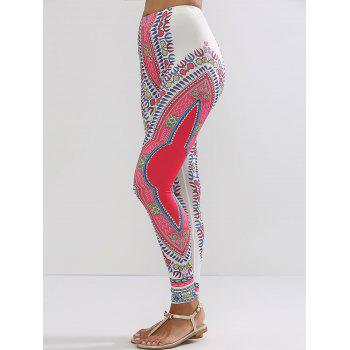 Ethnic High Waisted Workout Leggings - L L