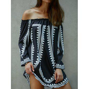 Off The Shoulder Printed Loose Dress