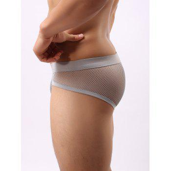 Band Mesh Briefs - GRAY GRAY