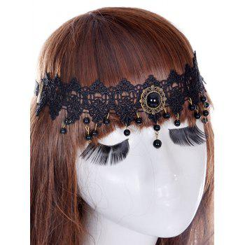 Faux Gem Forehead Elastic Hair Band
