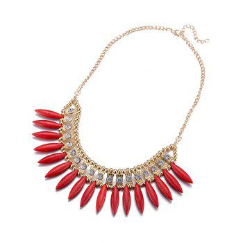 Rhinestone Faux Rammel Hollow Out Necklace