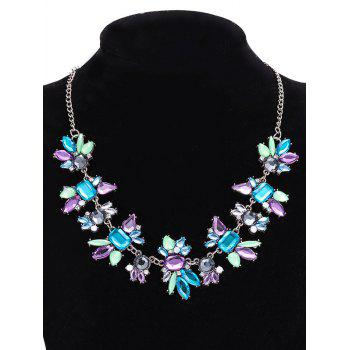 Artificial Crystal Water Drop Geometric Necklace