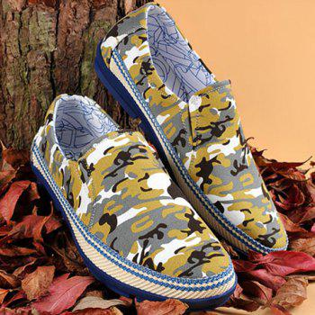 Slip-On Camouflage Print Casual Shoes