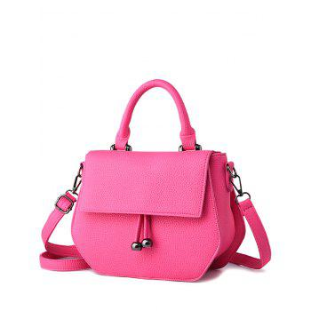 Metal PU Leather Zip Crossbody Bag