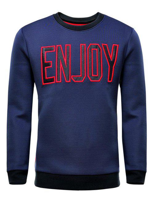 Round Neck Letter Printed Long Sleeve T-Shirt