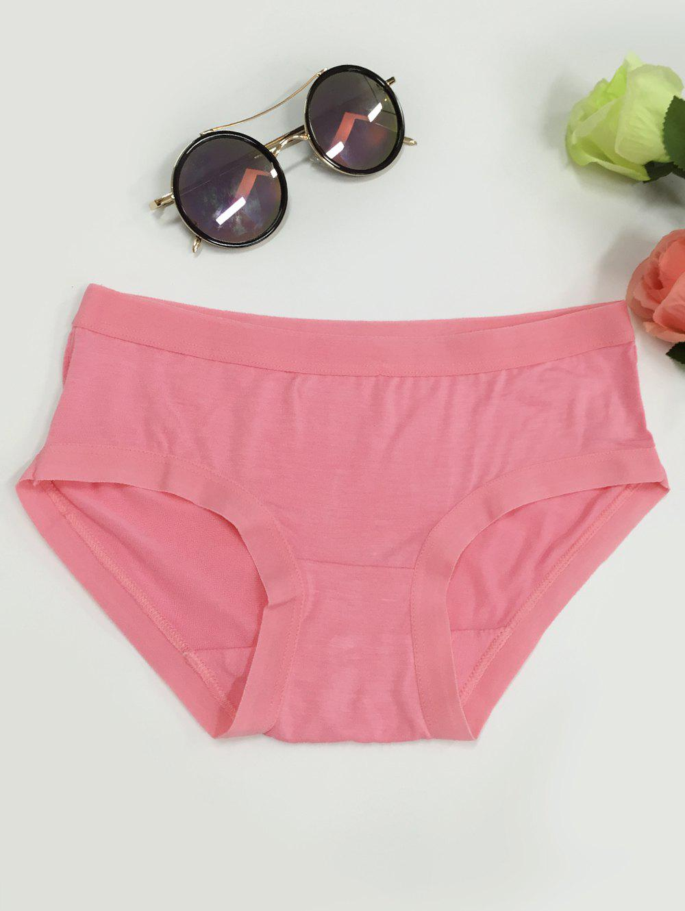 Low-Waisted Plain Briefs - WATERMELON RED ONE SIZE