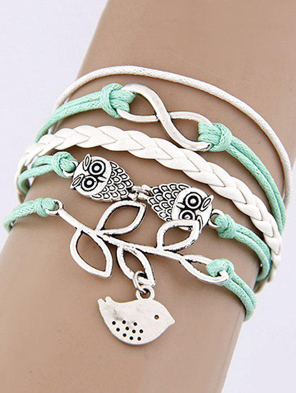 Owl Infinite Birdie Braided Bracelet