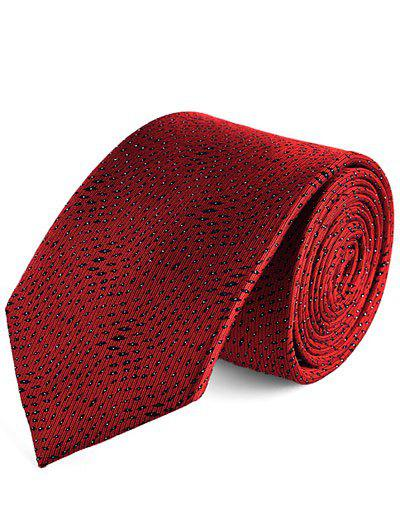 Party Banquet Small Leopard Pattern Tie - RED