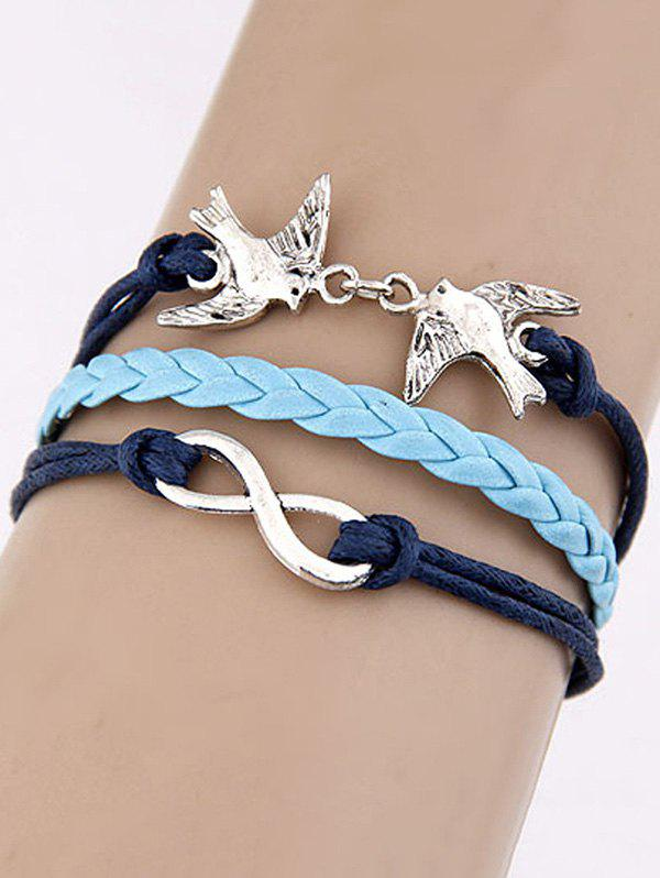 Swallows Infinity Braided Bracelet - BLUE