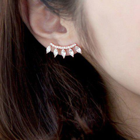 Rhinestone Artificial Crystal Waterdrop Ear Cuff