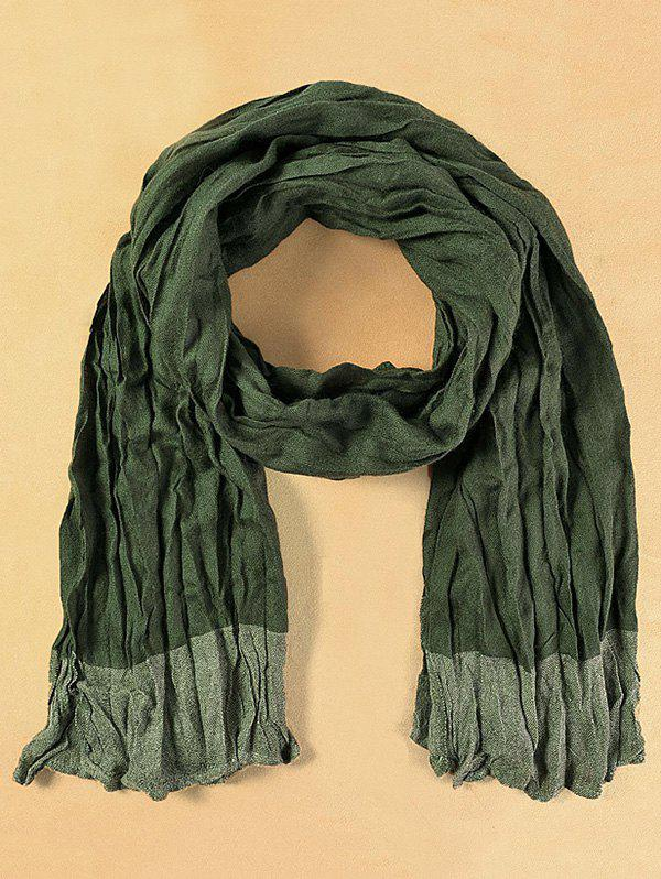 Winter Warm Casual Pleated Scarf - BLACKISH GREEN