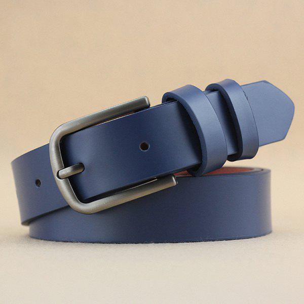 Lady Brief Style Pin Buckle PU Belt - BLUE