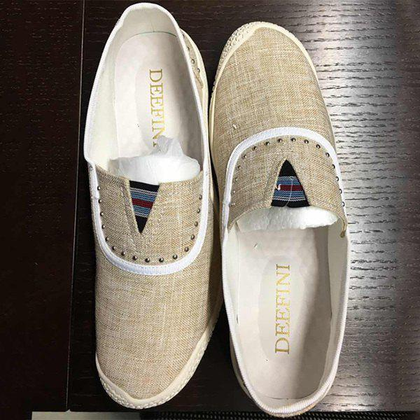 Linge de maison Rivet Slip-On Chaussures Casual - RAL Beige 38