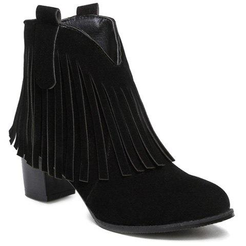Fringe Suede Zipper Ankle Boots bless ed are the meek pубашка