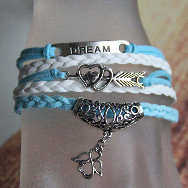 Heart Love Arrow Angel Bracelet cute love heart arrow angel bracelet for women