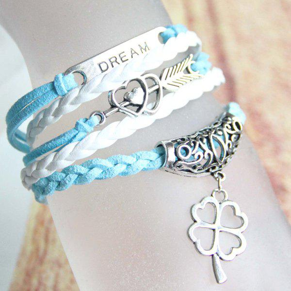 Heart Love Arrow Clover Strand Bracelet cute love heart arrow angel bracelet for women