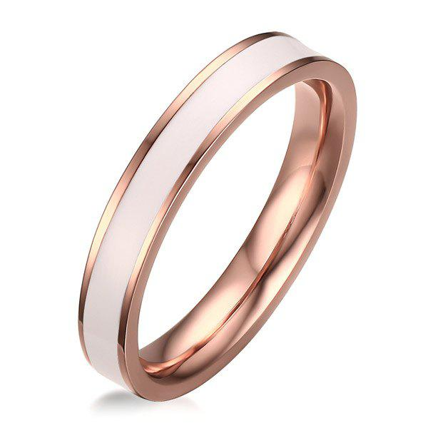 Stainless Steel Enamel Polished Ring