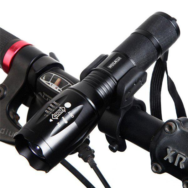 LED Sport Outdoor renouvelable Headlamp vélo lampe de poche Set - Noir