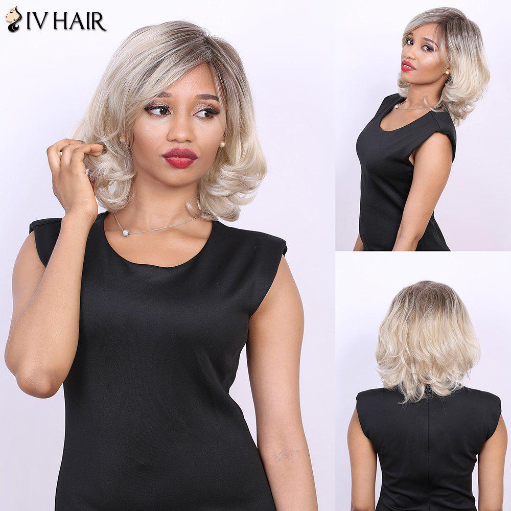 Multi Short Side Bang Straight Tail Adduction Real Natural Hair Siv Wig - COLORMIX