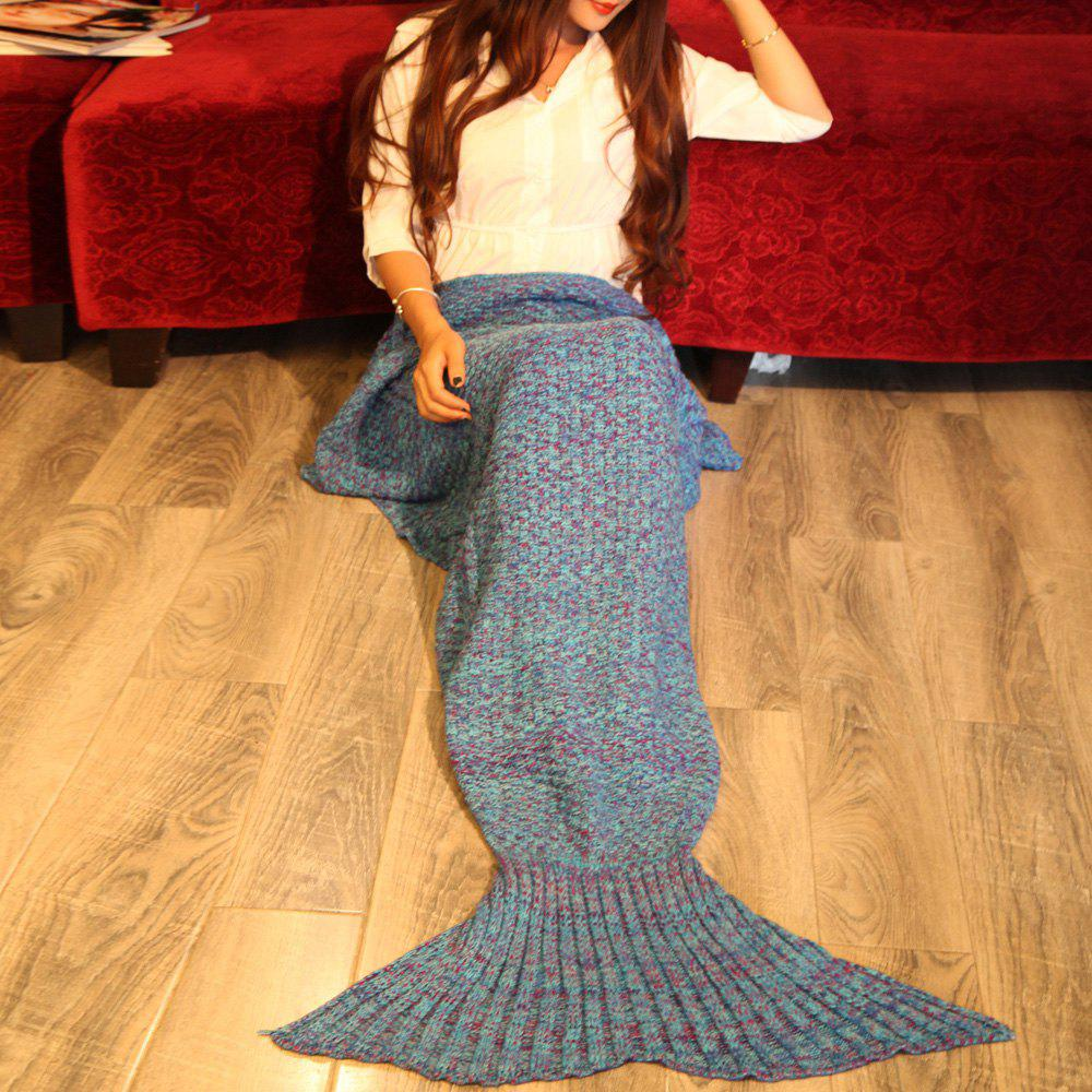 Warmth Braided Decor Knitting Mermaid Tail Style Soft Blanket