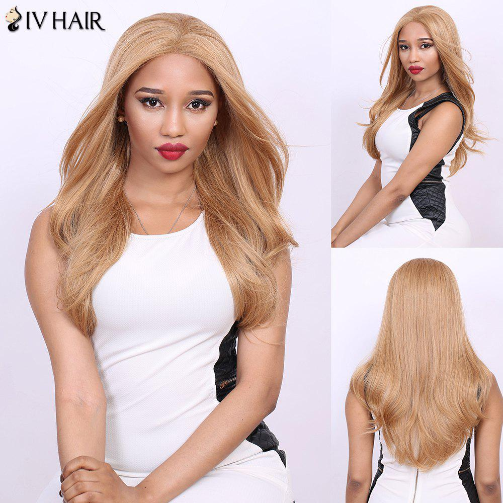 Stunning Long Straight Real Natural Hair Siv Wig -  DARK ASH BLONDE
