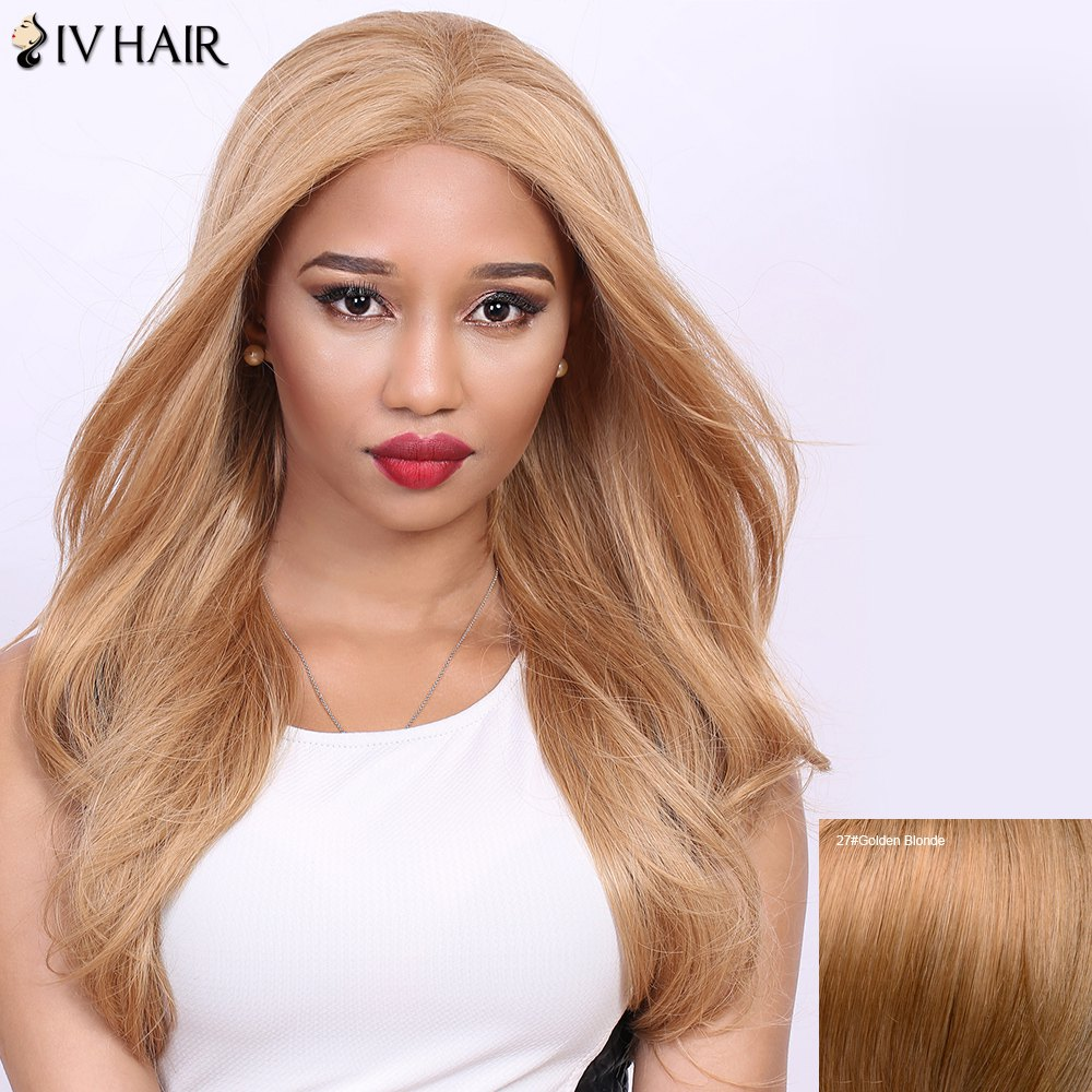 Stunning Long Straight Real Natural Hair Siv Wig - GOLDEN BLONDE