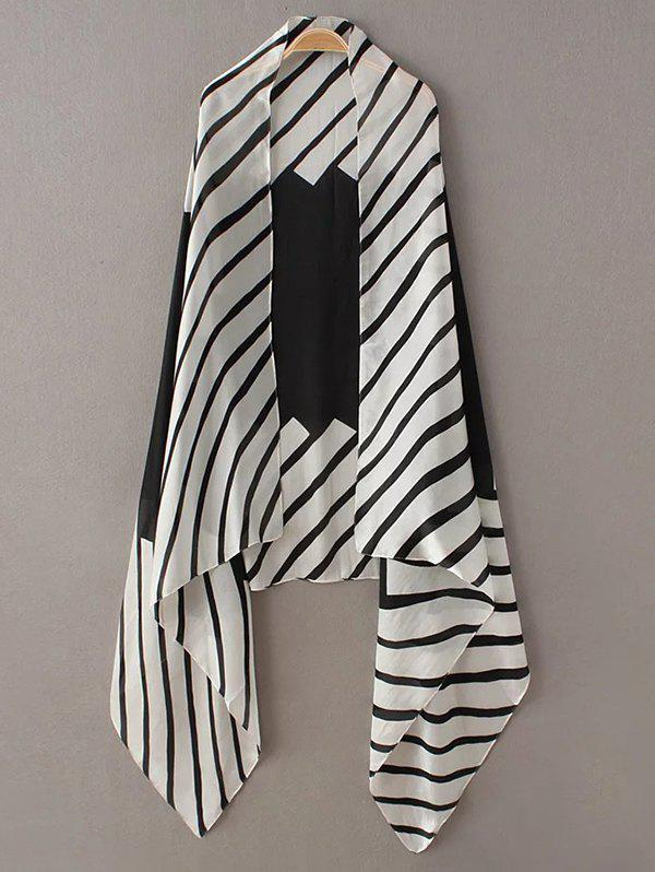 Soft Stripe Pattern PashminaAccessories<br><br><br>Color: WHITE AND BLACK