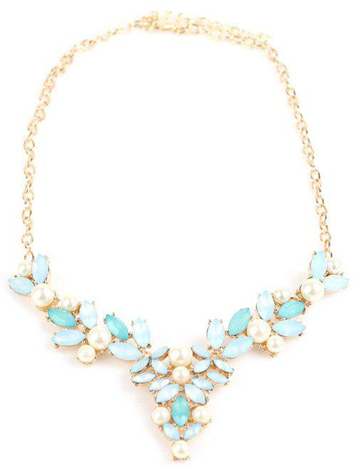 Faux Pearl Hollow Out Beads Necklace