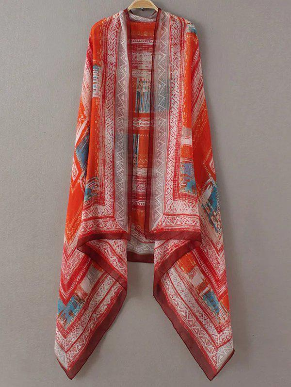 Ethnic Hazy Geometry Painting Pattern PashminaAccessories<br><br><br>Color: RED